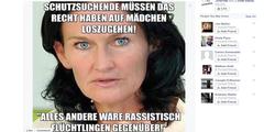 Eva Glawischnig, Partei-Chefin der Grünen in Österreich, wird mit einer Falschaussage verunglimpft.