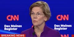 Elizabeth Warren kämpft gegen das Vorurteil, dass eine Frau nicht gegen Donald Trump gewinnen kann.