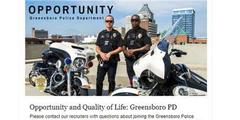 Dieses Stelleninserat der Stadt Greensboro sahen nur Männer.