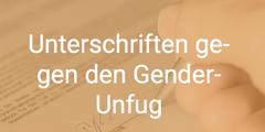 Mit «Gender-Unfug» übernimmt der Aufruf die Sprache von Rechtspopulisten.