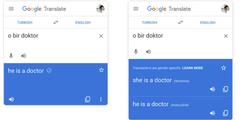 Google-Übersetzung Türkisch-Englisch ist geschlechtergerechter geworden (rechts).