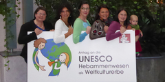 Hebammen beantragen, dass die Unesco das Hebammenhandwerk als Kulturerbe anerkennt.