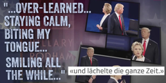 Hillary Clinton zum Stalking von Trump: «Ich habe verinnerlicht still zu bleiben.»