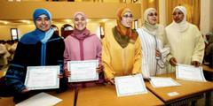 Marokkanerinnen nach Abschluss ihrer Ausbildung zu Religionslehrerinnen.