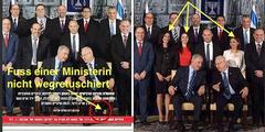 Ausschnitt aus dem Regierungsfoto ohne und mit drei Ministerinnen.