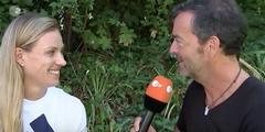Sportreporter Martin Wolff fragte Wimbledon-Siegerin Angelique Kerber nach Flirts.
