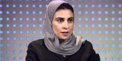 Lama Al-Suleiman darf nur über Video an den Parlamentssitzungen in Dschidda teilnehmen.