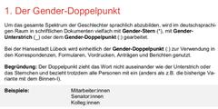 Auszug aus dem neuen Sprachleitfaden der Stadt Lübeck.