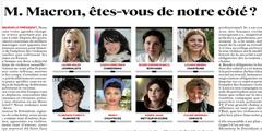 Prominente Frauen fordern den französischen Präsidenten zum Handeln auf.