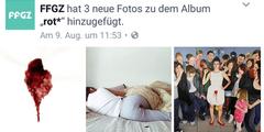 Darstellungen der Menstruation auf der Facebook-Seite des Frauengesundheitszentrums.