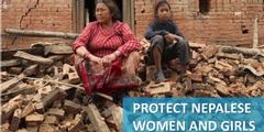 Nepalesinnen im Erdbebengebiet droht geschlechtsspezifische Gewalt.