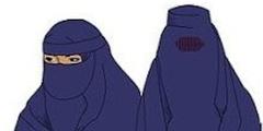 Verbot aus Sicherheitsgründen: Nikab (links) und Burka (rechts).