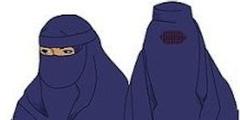Im Kanton St. Gallen hat das Volk einem Verbot von Nikab (links) und Burka (rechts) zugestimmt.