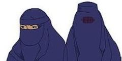 Die Volksinitiative will Nikab (links) und Burka (rechts) im öffentlichen Raum verbieten.