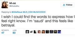 Als «Verrat» bezeichnet eine junge Frau die Wahl Saudiarabiens in die Uno-Frauenrechtskommission.