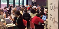 Schreibmarathon im BBC-Kaffee in London: Frauen verfassen Frauen-Biografien.