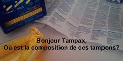 In Frankreich fordert eine Petition von Tampon-Herstellern Transparenz.