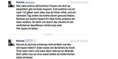 Diese Hasskommentare veröffentlichte Spiess-Hegglin auf Twitter und zeigte den Autor an.