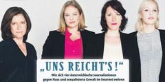 Renommierte Journalistinnen prangern den Frauenhass im Netz an.