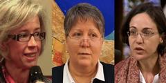 Linda Ghisoni, Michelina Tenache und Laetitia Calmeyn (von links).
